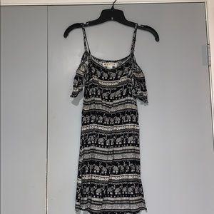 Printed Coachella off the  shoulder dress